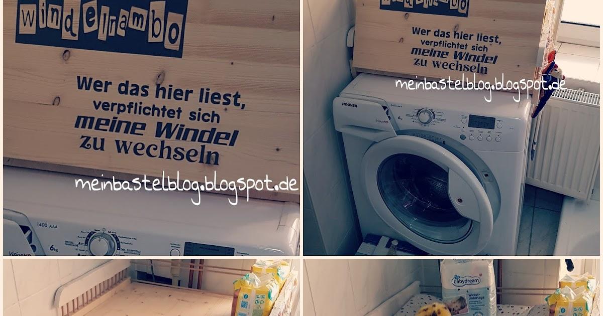mein bastelblog wickelauflage waschmaschine m beltattoo. Black Bedroom Furniture Sets. Home Design Ideas