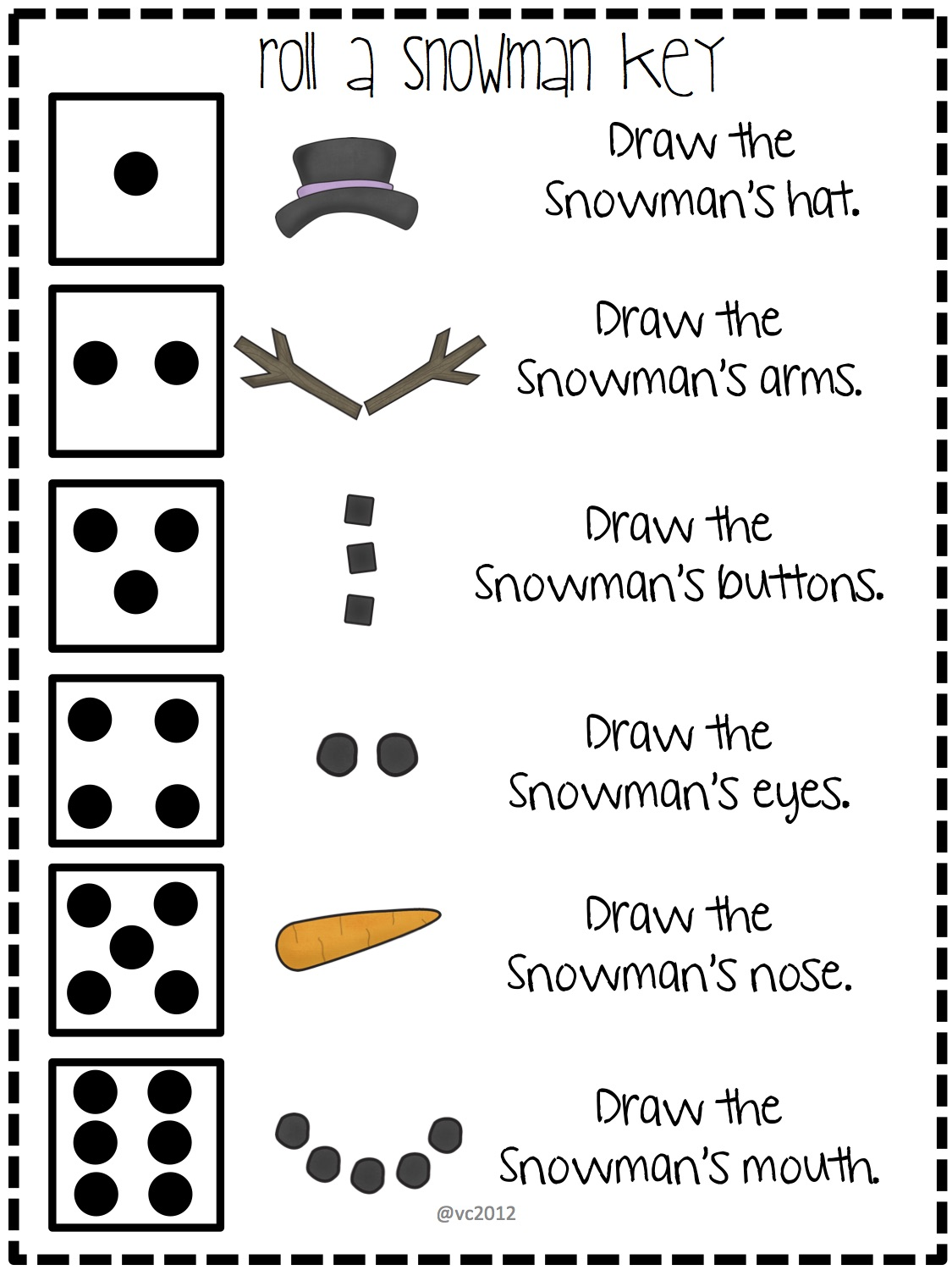 Camille's Primary Ideas: Roll-A-Snowman Review