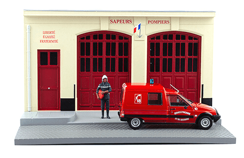 les plus beaux véhicules utilitaires, citroën c15 1:43 pompiers