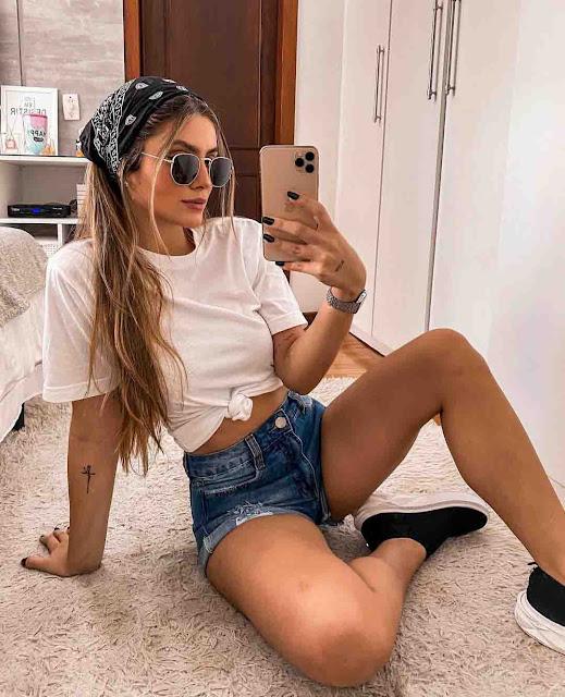 8 ideias de looks com short jeans e t-shirt