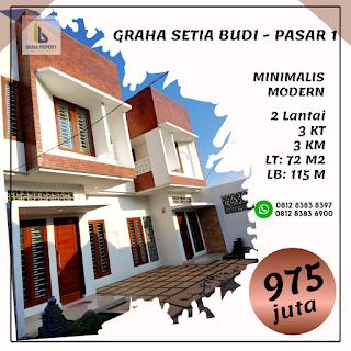 Jual Rumah Minimalis Modern Murah Di Pasar 1 Setiabudi Ring Road Depan Sekolah Namira Medan