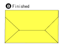 Bước 7: Hoàn thành cách gấp xếp phong bì bằng giấy đơn giản