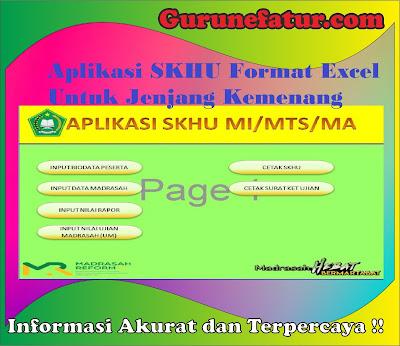 Aplikasi SKHU Format Excel Untuk Jenjang Kemenang