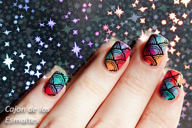 marmolado en seco tintas nail art