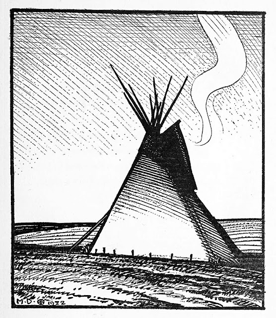 Maynard Dixon 1922, a first nations tent