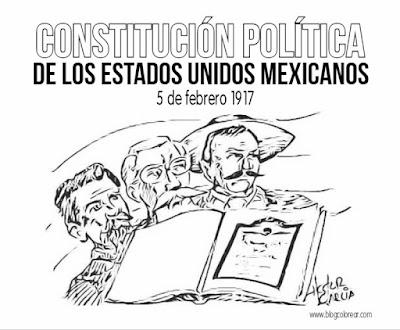 constitución mexicana  para colorear