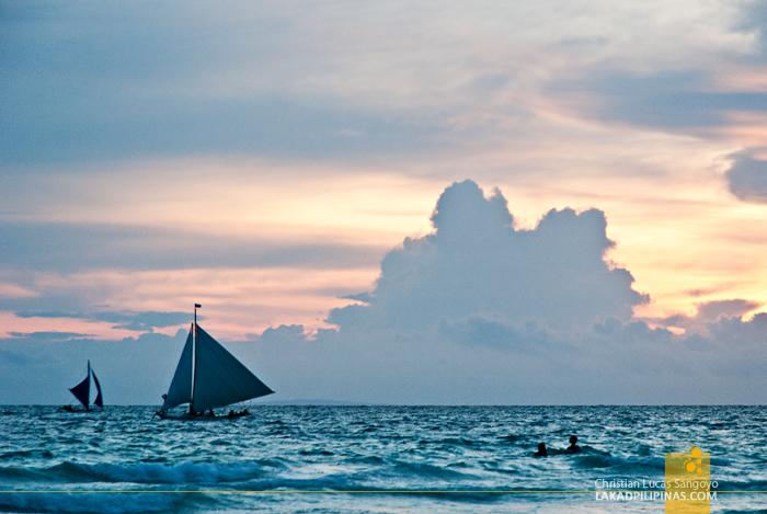 Boracay Beach Paraw Sunset