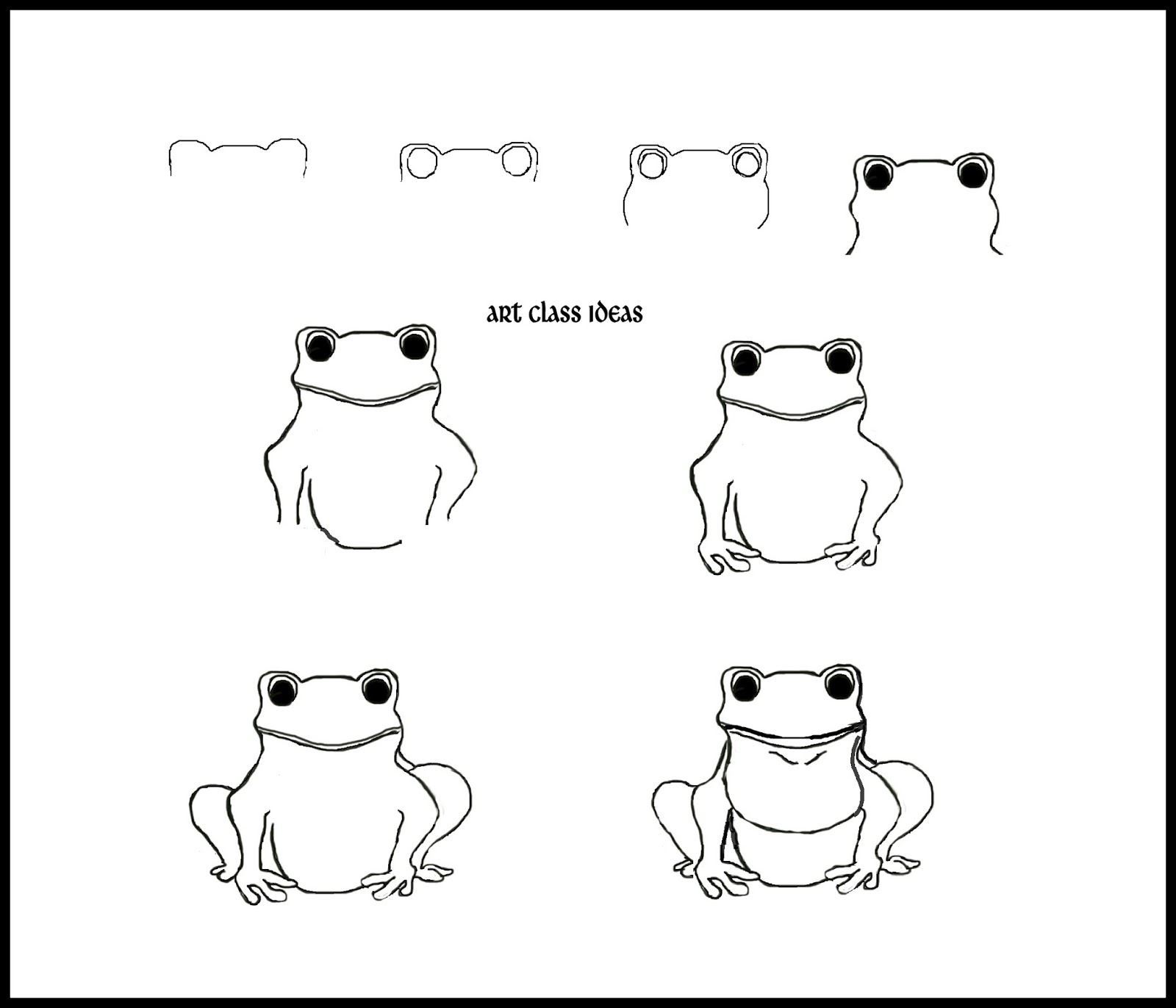 Uncategorized Draw A Frog draw a frog art class ideas i like to start on the top but you can