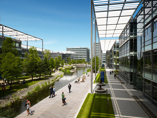 business, commercial property, landscape