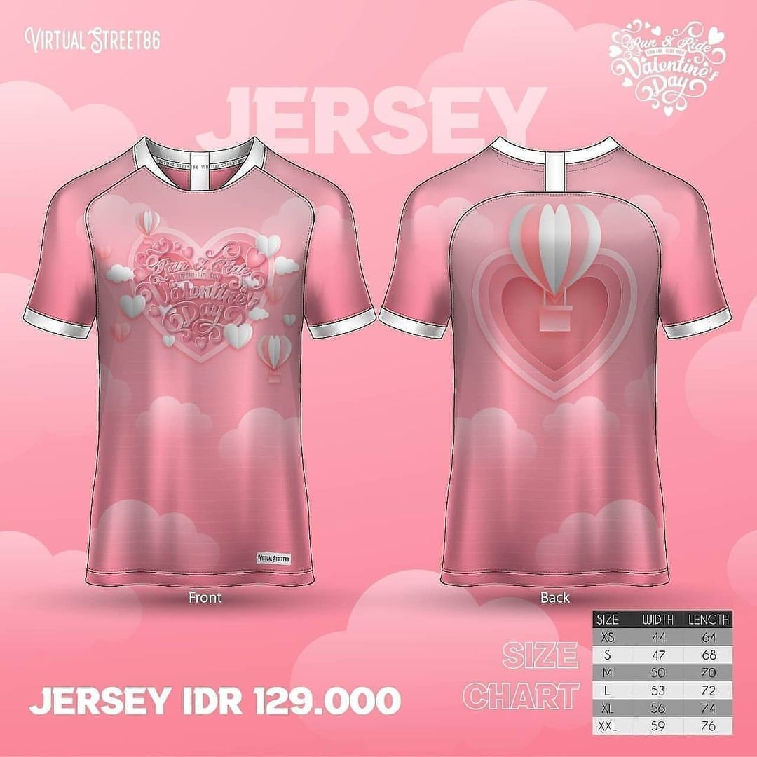Jersey 👕 Virtual Run & Ride - Valentine's Day • 2021