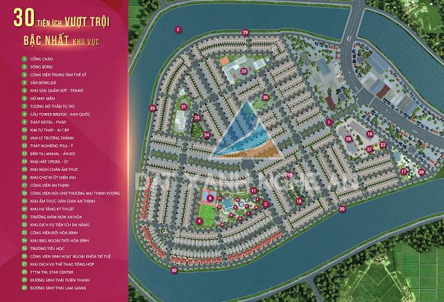 Khu đô thị TNR Stars Diễn Châu Nghệ An dự án biệt thự liền kề shophouse