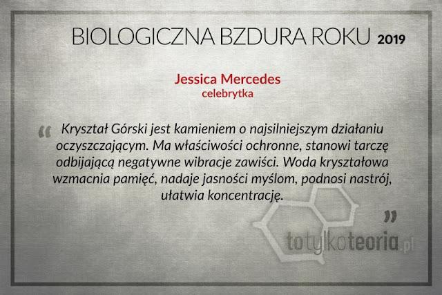 Biologiczna Bzdura Roku 2019 Jessica Mercedes