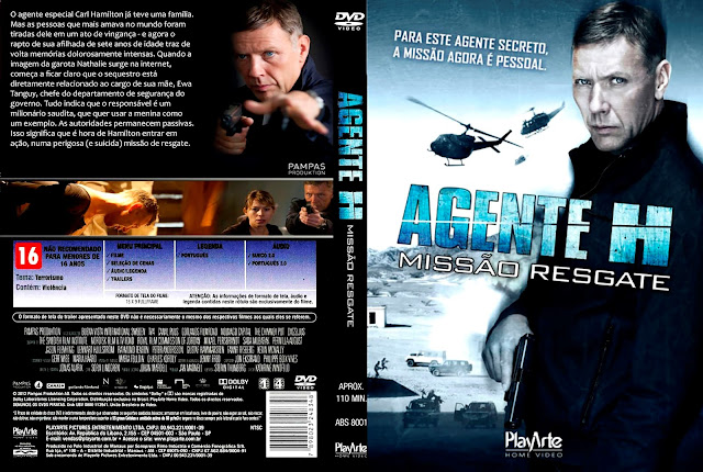 Capa DVD Agente H - Missão Resgate