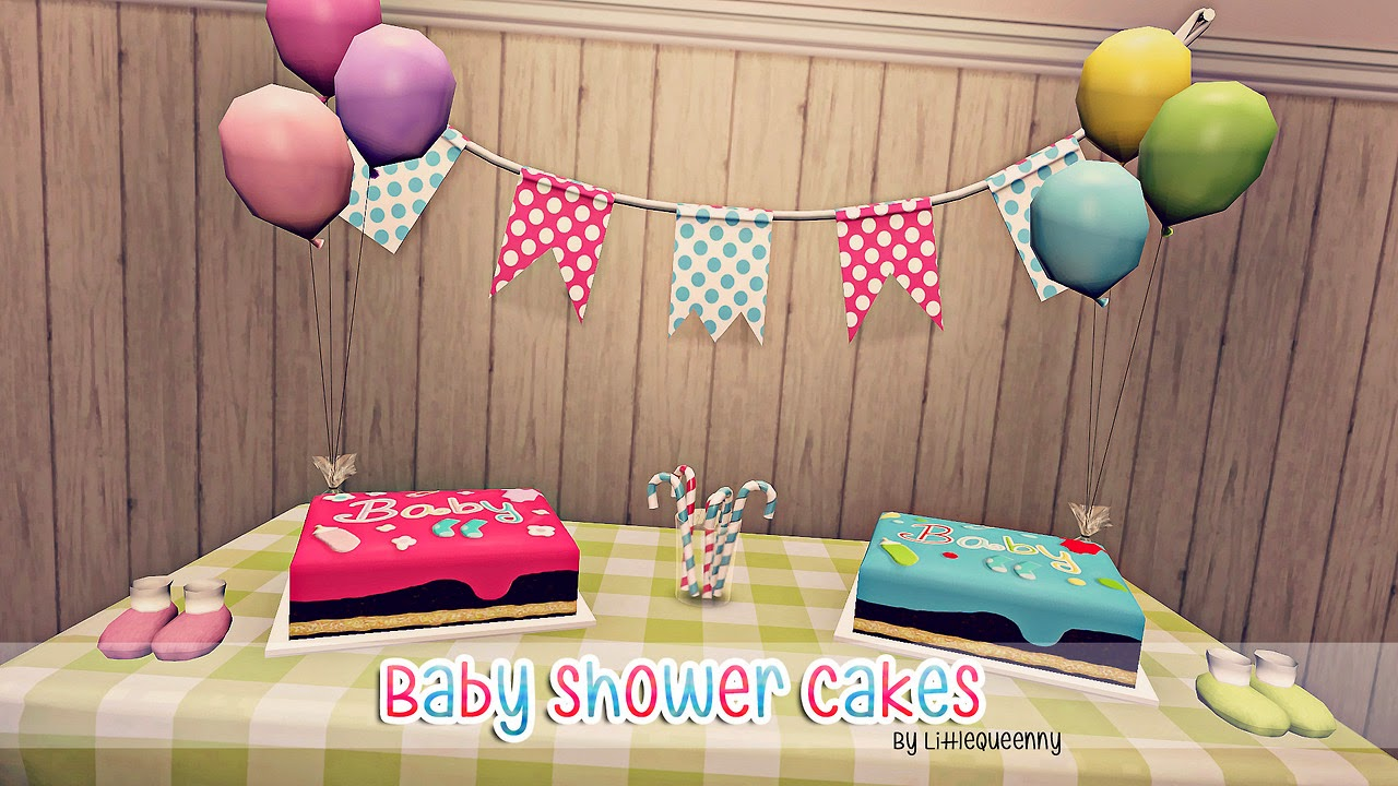 My Sims 3 Blog Baby Shower Cakes By Littlequeenny