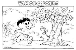 Desenhos de indios para colorir