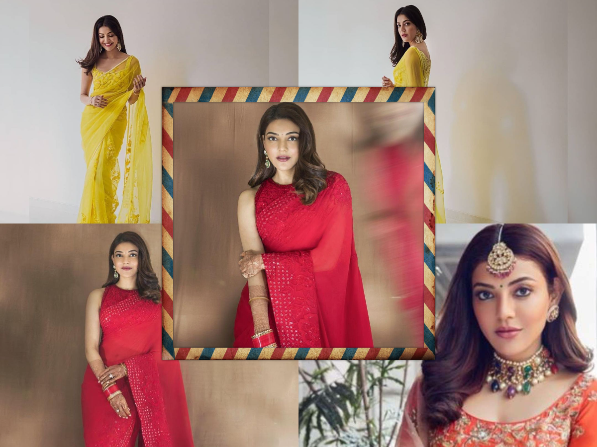 Pic of the day: Kajal Aggarwal looks ravishing in red, custom-made Manish Malhotra saree for her first Karva Chauth