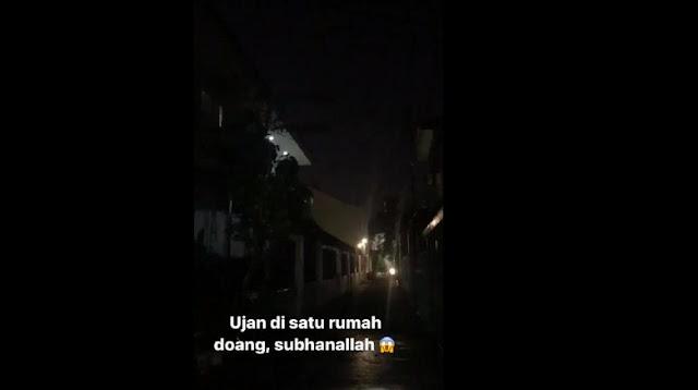 Mengherankan, 'Hujan' Ini Cuma Guyur 1 Rumah di Tebet