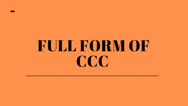 Full form of CCC | Get all information about TGT