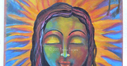 Original Painting On canvas, Illuminated by her own radiant self, Original Art on Canvas board