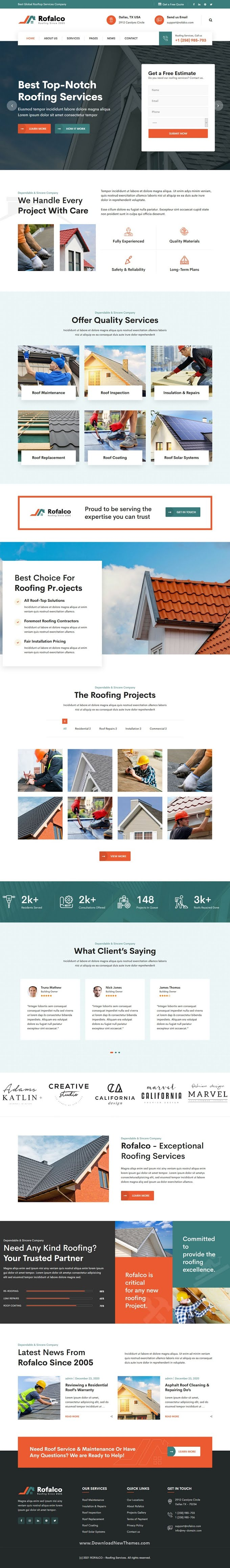 Roofing Services Website Theme