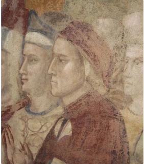 Dante in un dipinto della Cappella della Maddalena nel Bargello di Firenze