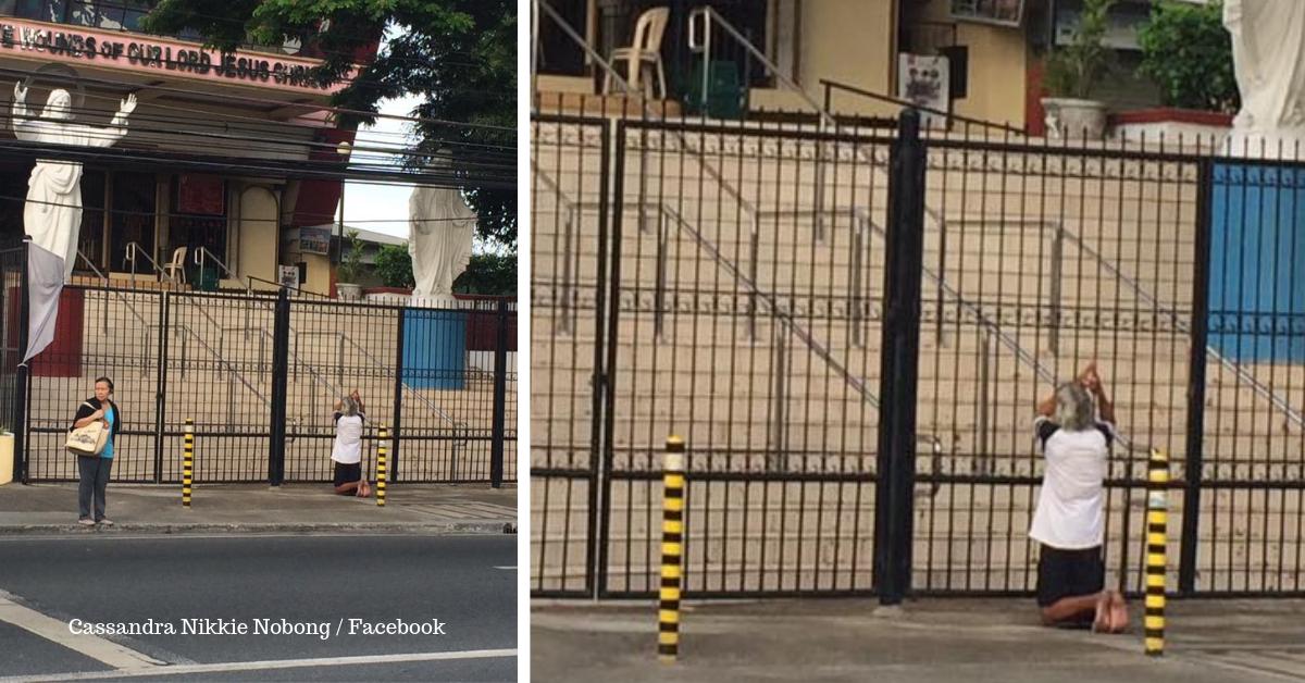 Man Praying Outside Closed Church Gates Goes Viral