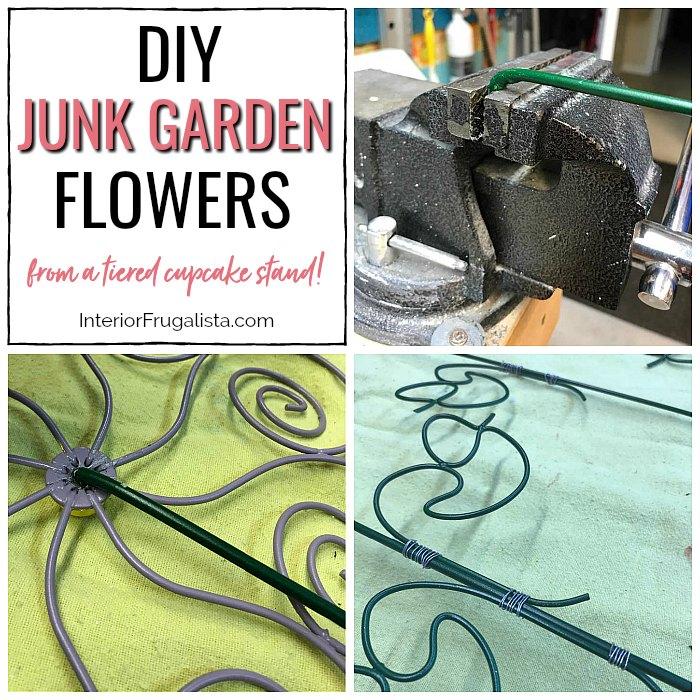 DIY Junk Garden Flowers