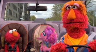 Sesame Street Elmo's Travel Songs and Games. Elmo's father, Louie, will drive Elmo and Abby Cadabby to the zoo.