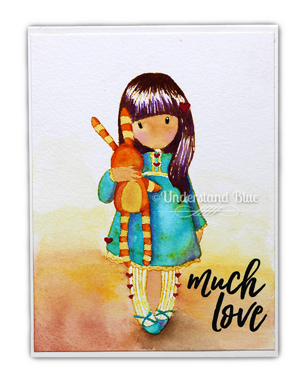 Gorjuss Hush Little Bunny with Schmincke watercolor by Understand Blue