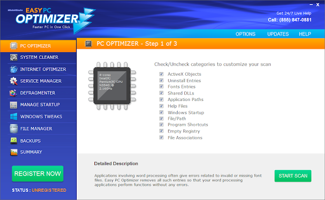 Easy PC Optimizer (Falso optimizador)