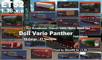 Doll Vario Panther 7-10 Axle untuk ETS2 v1.36