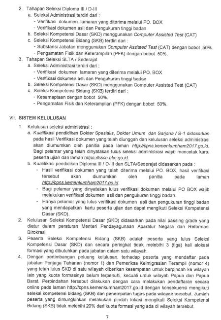 Pembukaan Lowongan Cpns 2017 Di Kementerian Hukum Dan Ham Kemkumham Kisi Kisi Soal Cpns