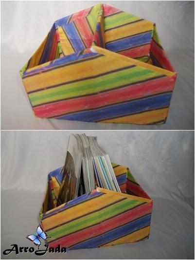 Faça você mesmo - porta revista de caixa de sapato