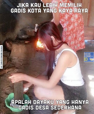12 Meme 'Gadis Desa' Ini Bikin Lupa Sama Gadis Kota