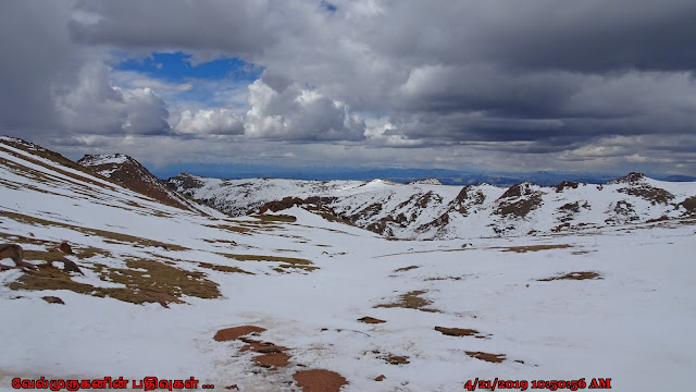 Pikes Peak Summit in Snow