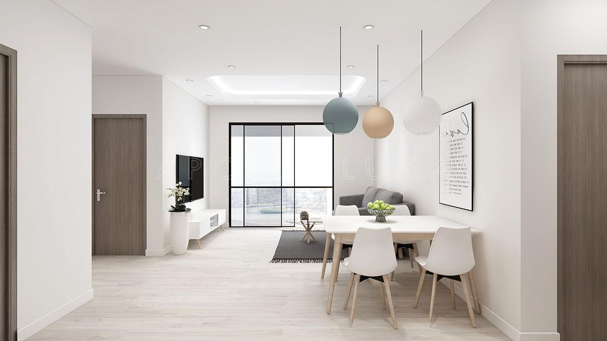 Thiết kế nội thất căn 3PN The Tera An Hưng Tố Hữu phong cách hiện đại