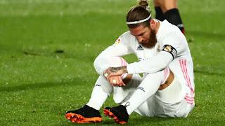 رسميا.. نادي ريال مدريد يعلن إصابة سيرجيو راموس