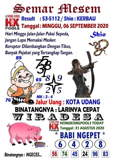Prediksi Syair HK senin 07 september 2020