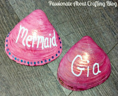 Kid's Crafts Painted Seashell Paperweights