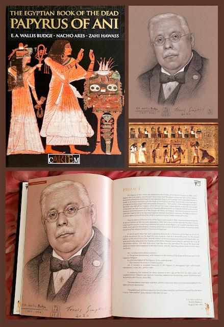 Ancient Egyptian Book of the Dead. cARTEm Publishers. EA Wallis Budge. Portrait by Travis Simpkins