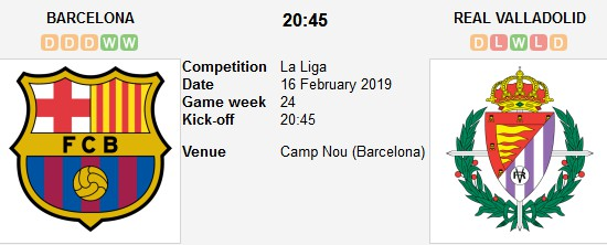 barcelona vs valladolid live