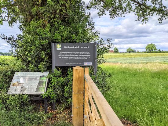 Information boards alongside Harpenden Rural bridleway 1