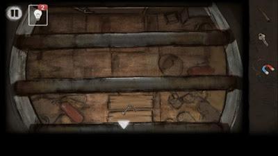 при помощи магнита вытаскиваем ключ в игре выход из заброшенной шахты