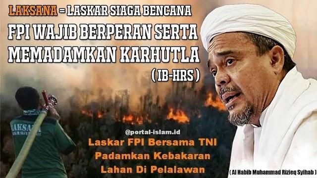 Laksanakan Amanat Habib Rizieq, Laskar FPI Padamkan Api Karhutla Di Poso, Riau Dan Lainnya