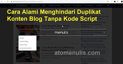 Cara Menghindari Duplikat Konten Blog Tanpa Kode Script