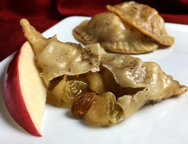 Opened Bourbon Apple Raisin Pierogi