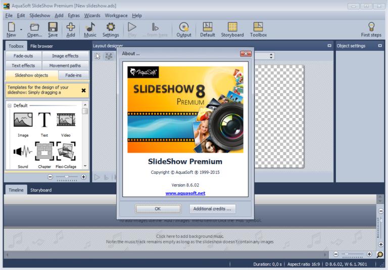 AquaSoft SlideShow Ultimate v12.1.01 - Tạo video slide ảnh cho điện thoại