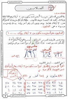 مذكرة المجتهد في الرياضيات الصف الرابع اللإبتدائى الترم الاول إبداع