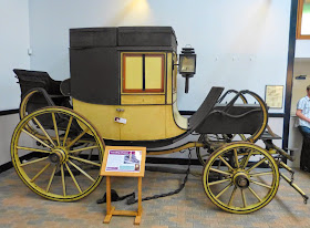 Travelling chariot in the National Trust Carriage Museum, Arlington Court