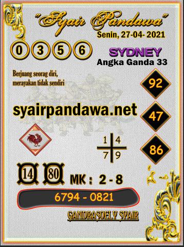 Gambar Syair Pandawa Sidney selasa 27 april 2021